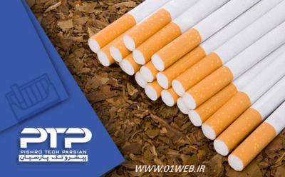 طراحی سایت شرکتی سیگار پیشروتک پارسیان