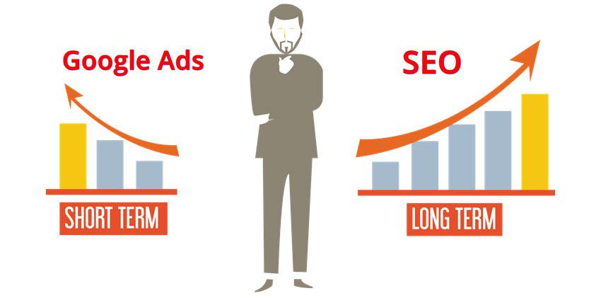 مقایسه سئو و تبلیغات گوگل
